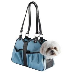 Metro Classic Dog Carrier by PETote - Turquoise-Metro Classic Dog Carrier by PETote - Turquoise Is there a dog in that purse? No one will ever know with the The Petote Metro Classic Purse! This Dog Carrier has all of the features you are looking for Dog Carrier Purse, Dog Carrier Bag, Dog Purse, Dog Bag, Designer Dog Carriers, Designer Dog Clothes, Faux Fur Bedding, Dog Blanket, Dog Travel