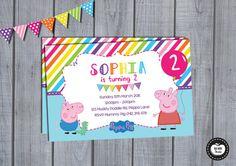 PEPPA PIG INVITATION  Personalized Birthday by RedAppleStudio