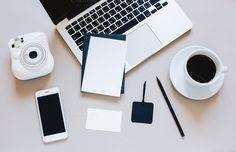 Creative flat lay of workspace desk by Nuchylee Photo on @creativemarket