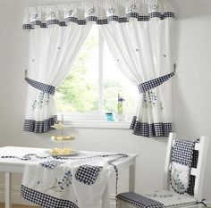 Best kitchen curtains fantastic curtain for kitchen decorating with best kitchen curtain designs ideas on home Kitchen Curtain Designs, Modern Kitchen Curtains, Window Curtain Designs, Small Window Curtains, Kitchen Window Valances, Kitchen Window Treatments, Curtain Styles, Home Curtains, Valance Curtains