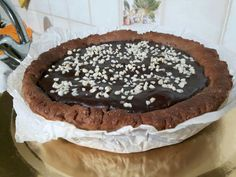 Crostata proteica al cacao High Protein Desserts, Relleno, Oreo, Healthy Recipes, Healthy Food, Pancakes, Clean Eating, Cacao, Chocolate