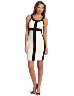 Jax Women's Two Tone Jersey Dress