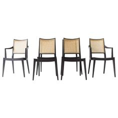 Edward Wormley Dining Chairs for Dunbar   From a unique collection of antique and modern dining room chairs at https://www.1stdibs.com/furniture/seating/dining-room-chairs/
