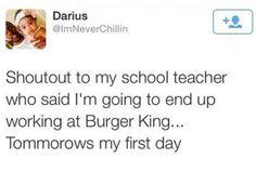 Teacher called it.