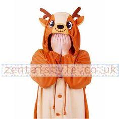 Adorable Sika Deer Pleuche Kigurumi Costume [TQL120329060] - £38.59 : Zentai, Sexy Lingerie, Zentai Suit, Chemise