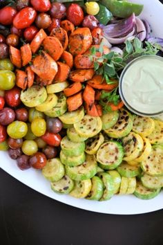 This can even be used for a side dish along with the meat... Selland's Catering - Vegetable Crudite Platter