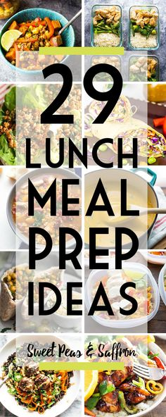 Easy lunch meal prep ideas will keep you from getting bored! Delicious work lunch ideas that you can make ahead and enjoy through the week. #mealprep #mealprepbowls #lunch #makeahead