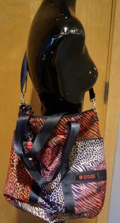 NWT Kipling Lyris Summer Jungle Animal Print XXL Handbag Purse #Kipling #XXLHandbag