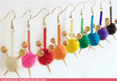 Must find mini knitting needles and make these for my knitwit friends!