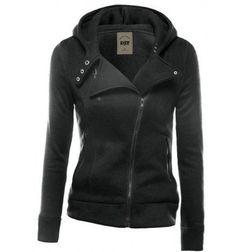 Keep It Simple Side Zip Hoodie Sweatshirt