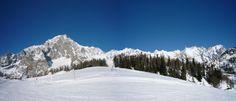 white mountain - monte bianco from courmayeur ski slopes - italy