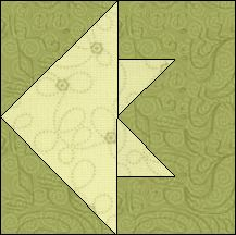 Block of Day for April 23, 2016 - Fish-foundation/paper piecing-The pattern may be downloaded until: Tueday, May 3, 2016.