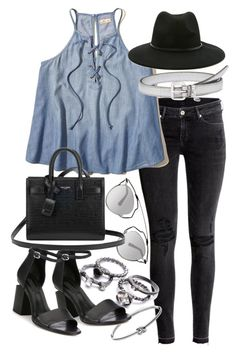 """Untitled #19629"" by florencia95 ❤ liked on Polyvore featuring H&M, Miu Miu, Forever 21, Christian Dior, Yves Saint Laurent, Michael Kors and Alexander Wang"