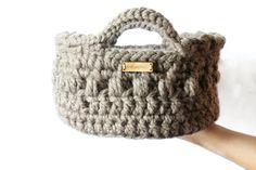 Storage basket Crochet basket Home decor by reneeoriginals1