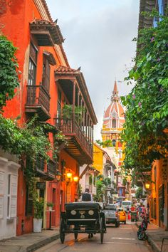 The beautiful colourful city of Cartagena, have to visit here as part of a Colombia Itinerary