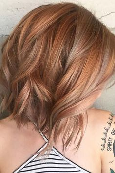 Copper Shoulder-Length Layers
