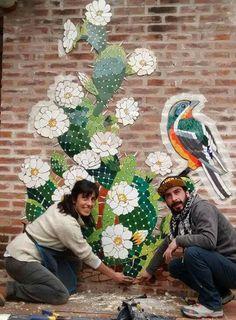 Mosaic Artwork, Mosaic Wall Art, Mosaic Diy, Mosaic Crafts, Mosaic Garden Art, Mosaic Flowers, Byzantine Art, Plant Art, Unique Gardens