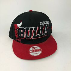 77d9ed24bb2 Chicago Bulls Charz Snap Black Red White New Era Snapback Hat