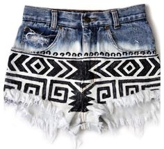 DIY shorts - just take a sharpie to them! It would be fun to experiment with floral patterns or smaller geometric detailing