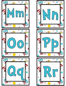 The Teaching Sweet Shoppe!: More Seussy Goodness - Word Wall Cards in Three Fun Designs!