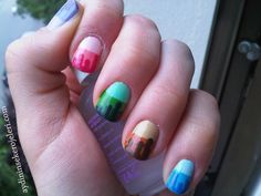 31 day nail art challenge day 10 Gradient Nails