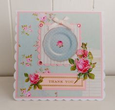 Shabby chic Thank You card by picocrafts on Etsy, $3.80