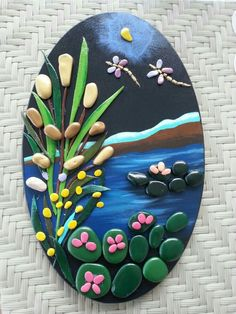 The ultimate guide for DIY rock painting and craft ideas - ROCK ART Stone Crafts, Rock Crafts, Clay Crafts, Diy And Crafts, Arts And Crafts, Kids Crafts, Pebble Painting, Pebble Art, Stone Painting