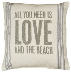 Rustic The Beach Accent Throw Pillow