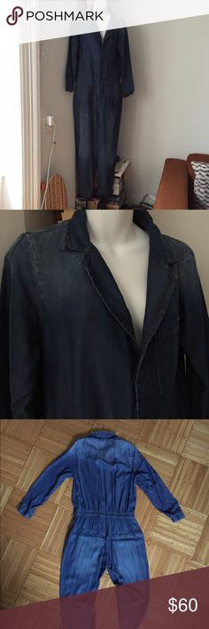 224dd69454b42 Zara Basic Denim Coverall Super lightweight Denim Coverall NWOT. Size  Large