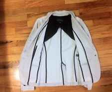 Women's BANANA REPUBLIC Cement Gray Fitted Ruffle Collar Blazer Jacket