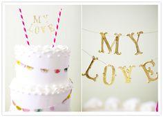 diy cake bunting decor