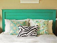 A one-of-a-kind DIY headboard can make a bold statement in your bedroom at a low cost. Browse these simple headboards for inspiration and step-by-step instructions.