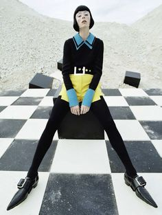 check-mate: edie campbell by tim walker for vogue italia december 2015