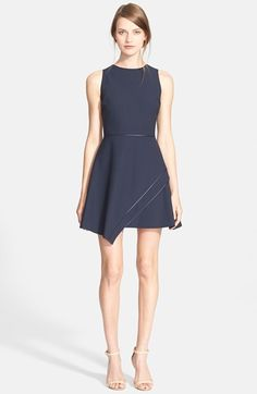 Free shipping and returns on Elizabeth and James 'Ayla' Sleeveless Fit & FlareDress at Nordstrom.com. Tonal silk piping highlights the clean, contemporary silhouette of a sleeveless minidressthat flounces into an overlapped,asymmetrical skirt.