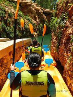 Xenotes: A New Experience in the Riviera Maya | A Canuck in Cancun. Ready to kayak in a cenote!