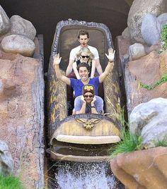 Where they rode Splash Mountain... | Emma Stone And Andrew Garfield Won 2012