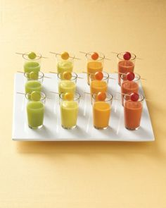 Mini gazpacho shooters - Martha Stuart Weddings