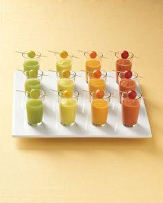 Salad Shooters... verrine de gaspacho + tomate cerise