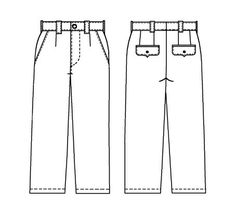 Trousers  - Sewing Pattern #6001 Made-to-measure sewing pattern from Lekala with free online download.