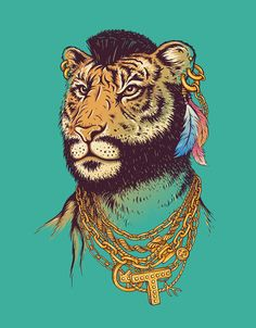 Mr. T(iger)  by Enkel Dika -I don't know why I find this so hilarious.