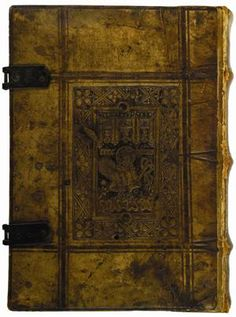 Guilelmus Carthusiensis (fl. 15th century). Sermones super Orationem Dominicam. Paris: Ulrich Gering and Berthold Rembolt, 1494.    Facing an unprecedented increase in book production, fifteenth-century Netherlandish binders popularized a time-saving measure known as panel stamping, in which heated metal plates cast in relief were impressed into the dampened leather covers in a press. This process allowed for a more abundant and pictorially coherent design than repetitious blind tooling did.
