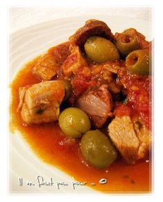 sauté de veau au chorizo (filet de veau, basilic )