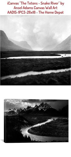 Icanvas The Tetons Snake River By Ansel Adams Canvas Wall Art Multi In 2020 Canvas Wall Art Ansel Adams Tetons