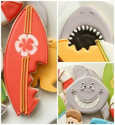 Surfing cookies. these are so cute
