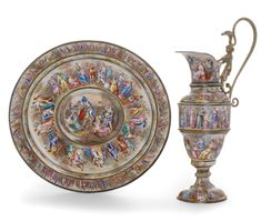 An enamel ewer and dish, Vienna, late century. Dreamers Movie, The Dreamers, Georg Fischer, Flagellation, Still Life Fruit, Mirror Painting, Art Deco Necklace, The Shepherd, Dog Signs