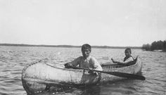 Ashwanimak and his son on Long Lake in Ontario - Ojibwa – 1914