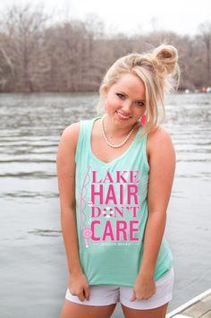 Lake Hair Don't Care Tank - Jadelynn Brooke