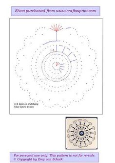ED029 Mandala 2 on Craftsuprint designed by Emy van Schaik - Stitching with beads - Now available for download!