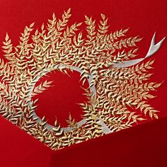 Wheat wreath embroidery