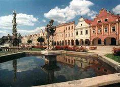 Tel is a beautiful historical town in the South Moravia. It is one of the protected places by UNESCO. The historical part of the city dates back to 16th century. On the picture you can see the main square with historical houses and its colorfully painted facades. www.wocycling.com